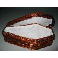 Quality Small Wicker Coffins, Willow Woven Urns, Inside Fabric lining, Lacquered finish for sale