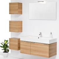 Wholesale Wall Mounted customized modern red birch solid wood bathroom vanity base cabinets from china suppliers