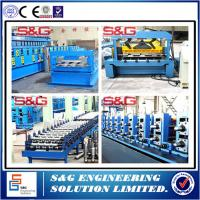 Wholesale Galvanized Steel Composite Floor Deck Roll Forming Machine With Emobssing Rollers from china suppliers