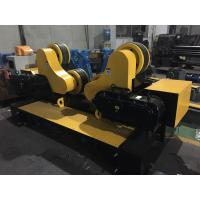 Quality 20 Ton Self - Aligned Welding Turning Rolls With 300 X 120mm Rubber Wheels for sale
