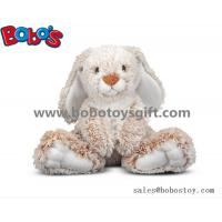 Quality 25cm Baby Plush Sitting Rabbit Animal Toy with Long Ears and Big Feet for sale