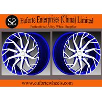 Quality SS wheels - 54.1 mm - 74.1 mm CB 1-piece Forged Aluminum Alloy Wheels Concave Blue Machine Face for sale