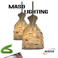 Wholesale Maso Money Pocket Resin Decorative Pendant lamp Hemp Rope E27 base Lighting MS-P1076 from china suppliers