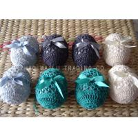 Wholesale Acrylic Crochet Christmas Ornaments Decoration , 6cm Hand Crochet Easter Eggs from china suppliers