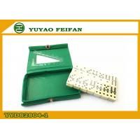 Wholesale Small Green PVC Box Dominoes Double 6 Rectangle Round Corner from china suppliers