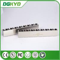 Wholesale Tab down KRJ -56B8P8C1X8NL 8 pin modular connector 1X8 multiple ports from china suppliers