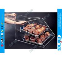 Buy cheap Cake Dessert Food Clear Acrylic Display Stands Box with Free Logo from wholesalers