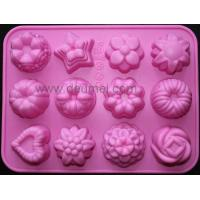 Wholesale 12-Flower Silicone Cake Chocolate Craft Candy Baking Mold/Candy Mould/Cake Mold from china suppliers