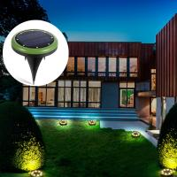 Wholesale warm white 8leds solar powered underground light for lawn,garden and yard from china suppliers