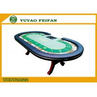 Wholesale Oval Baccarat Texas Holdem Poker Table Veined Marble Surround from china suppliers