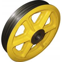 Wholesale Painting / Polishing CNC Machined Parts , Elevator Cast Iron Parts Wire Wheel from china suppliers