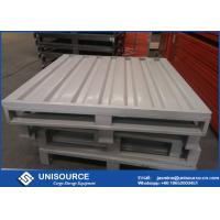 Wholesale Waterproof Heavy Duty Steel Pallets , Durable Stackable Steel Pallets 1000 - 3000 Kg Load from china suppliers