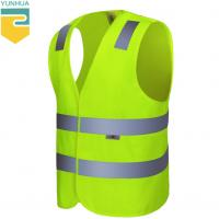 China Non - Toxic Yellow Reflective Vest Breathe Freely Suit For High Temperature Place for sale