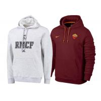 Wholesale Real Madrid Grey RMCF Football Training Hoodies Roma Red Thai AAA Football Sweater from china suppliers