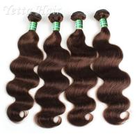 Wholesale Tangle Free 100 Indian Remy Hair , Body Wave Hair Extensions Soft / Glossy / Clean from china suppliers
