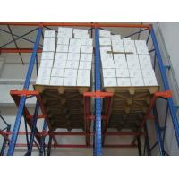 Wholesale Blue / orange multi level Drive in pallet racking with single / double side bracket from china suppliers