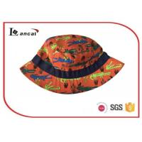Wholesale Kids crocodile custom reactive printed bucket hat , orange fisherman bucket hat from china suppliers