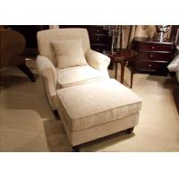Wholesale Transitional Arm Chair And Ottoman , Cream Tan Fabric Lounge Chair from china suppliers