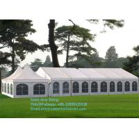 Quality High Peak Outdoor Wedding Marquee , Cumtomized Multi-side Tent With Colorful PVC Roof Cover for sale