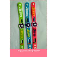 Wholesale promotion gift soft PVC wrist band with Nigeria Church Logo from china suppliers