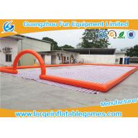 Wholesale Big Airtighted Inflatable Soccer Field , Outdoor Large Inflatable Games from china suppliers