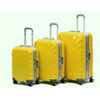 Wholesale PC Yellow Business Travel Hard Shell Luggage Sets Aluminum Frame For Adultt from china suppliers
