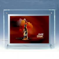 Wholesale 290x420mm single side crystal led light box from china suppliers