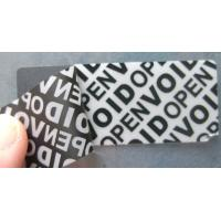 Wholesale Anti - Counterfeiting Warranty Void Labels With Double Coated Paper from china suppliers