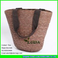 Wholesale LUDA china straw bag brown wheat straw made basket straw bags from china suppliers
