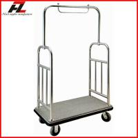 Wholesale Stainless Steel Hotel Luggage Cart/High Quality Bellman's Luggage Cart from china suppliers