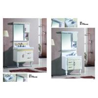 Wholesale Waterproof Bathroom Furniture Single Vanity Sink LED Lamp Mirror / Basin Included from china suppliers