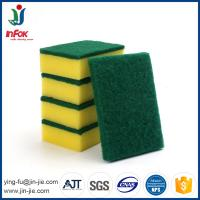 cheap abrasive kitchen cleaning sponge scouring pad in rolls
