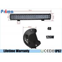 "Wholesale Double Row 4D Cree LED Car Light Bar For 12V 24V Vehicles 20"" 126W High Lumen from china suppliers"