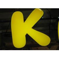 Wholesale Advertising 3D Resin LED Letters Sign For Store Logo , Commercial Sign Letters from china suppliers