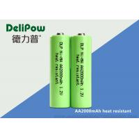 Wholesale 1.0v~1.2V 2000mAh Aa Rechargeable Batteries Nimh Heat Resistant from china suppliers