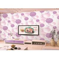 Wholesale Colored Heat Insulation Kids Bedroom Wallpaper , Decoration DIY Floral Foam Sticker Wallpaper from china suppliers