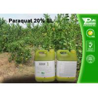 Wholesale Paraquat 20% SL Selective Herbicide  control of weeds and grasses Cas No.4685-14-7 from china suppliers