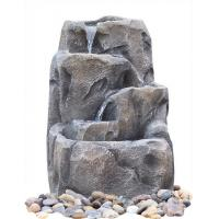Wholesale Modern Alpine Rock Waterfall Fountain With Fiberglass / Resin Material from china suppliers