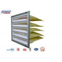 Wholesale Customized Galvanized Frame Pocket Air Filter for Ventilation System Industrial from china suppliers
