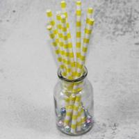Wholesale 6mm 8mm the inside diameter of yellow  color Biodegradable Paper Drinking Straws from china suppliers