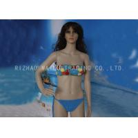 Wholesale Sea Blue floral top Knitted Swimwear String Waist with red beads Washable Handmade Crochet Bikini from china suppliers