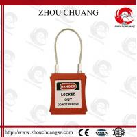 Wholesale Safety Long Retractable Cable Stainless Steel Pad Lock from china suppliers