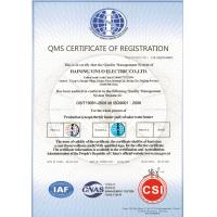 Haining Yinuo Electric Co.Ltd Certifications