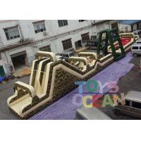 Wholesale 32m Length Giant Military Inflatable Obstacle Course Game For Running Race from china suppliers