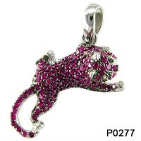 Wholesale Rhodolite Tiger Micro Pave 925 Silver Jewelry Gemstone Pendant For Anniversary from china suppliers