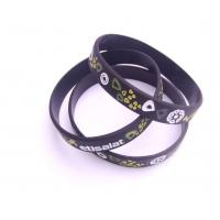 Buy cheap printing and debosesd logo silicone wristband manufacturer from wholesalers