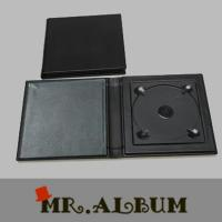 Wholesale Black leather singe CD case with plain cover_CD case maker from china suppliers