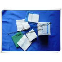 China Surgical Medical Gauze High Absorbency Low Linting Plain Skin Cleansing Swabs White Green / Blue on sale