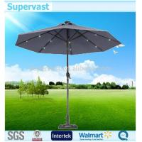 Wholesale Decorative Garden Market LED Lights Solar Patio Umbrella Round Shape from china suppliers