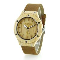 Wholesale Maple Case Leather Strap Ladies Wooden Watches For Her , 12 Monthes Warranty from china suppliers